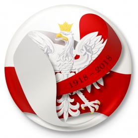 Значок кнопки, булавка Польша Независимость