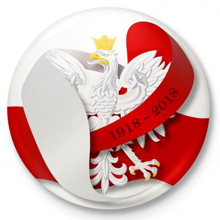 Button przypinka, pin Polska Niepodległa