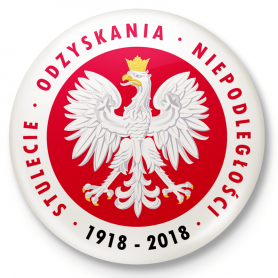 The century to regain Poland's independence - button pin