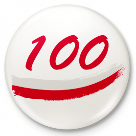 100 years of Independence of Poland - button pin