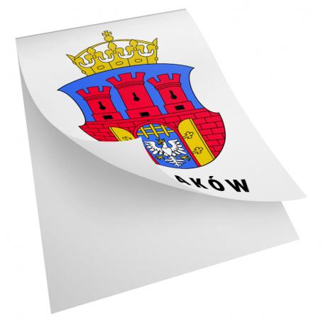 Escudo de la etiqueta engomada de Cracovia