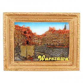 Magnes na lodówkę obraz Warszawa Syrenka