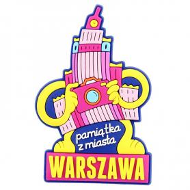 Kühlschrankmagnet aus Gummi Warschau - Kulturpalast