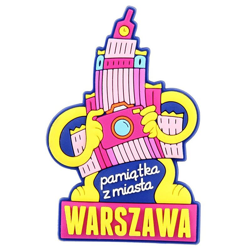 Gumowy magnes na lodówkę Warszawa - Pałac Kultury