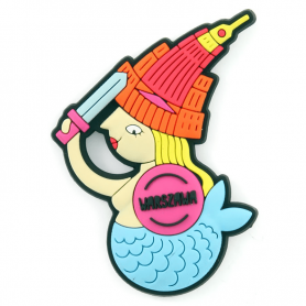 Rubber fridge magnet Warsaw Mermaid
