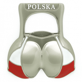 Fridge magnet opener Poland bikini