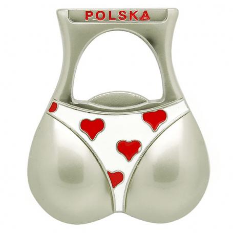 Abridor de imán de nevera de Polonia bikini