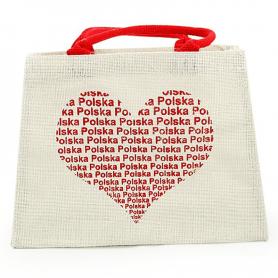 Canvas bag heart POLAND