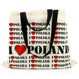 Canvas bag I LOVE POLAND