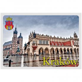 Postkarte 3D Krakauer Marktplatz