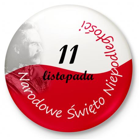 Button przypinka, pin Narodowe Święto Niepodległości