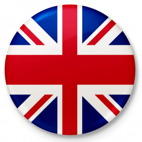 Button, pin, flag of Great Britain