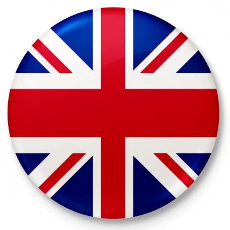 Button przypinka, pin flaga Wielkiej Brytanii
