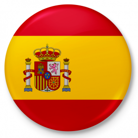 Button pin, flag of Spain