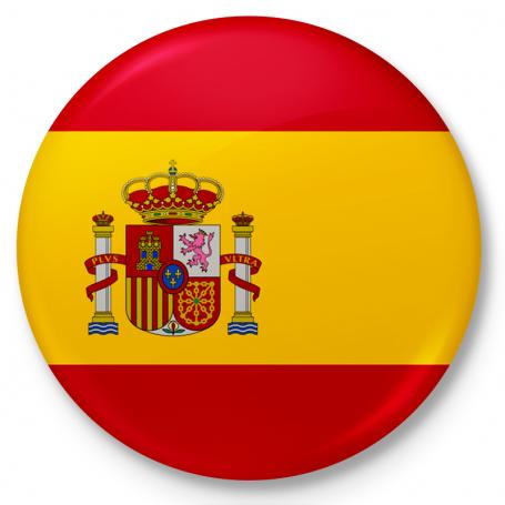Bouton, drapeau de l'Espagne