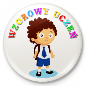 Button przypinka, pin Wzorowy Uczeń