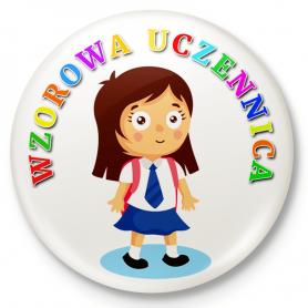 Insemnă cu buton, pin Exemplară școală