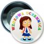 Button przypinka, pin Wzorowa Uczennica