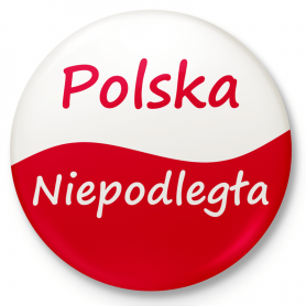 Button refrigerator magnet Poland Independent