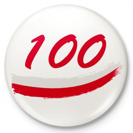 Bouton aimant de réfrigérateur 100 ans d'indépendance
