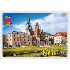 Postkarte 3D Krakau Wawel