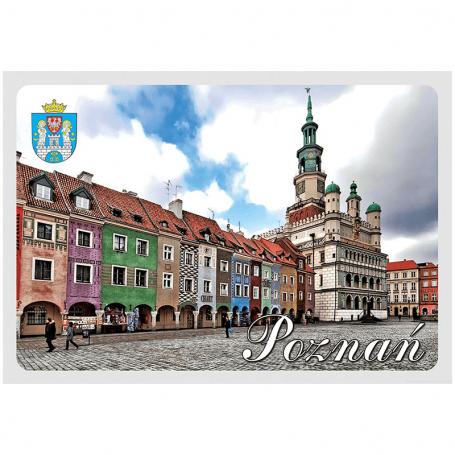Postal del Ayuntamiento de Poznan en 3D