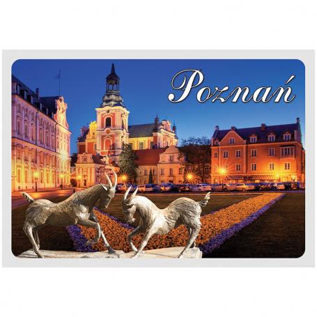 Pocztówka 3D Poznań Plac Kolegiacki