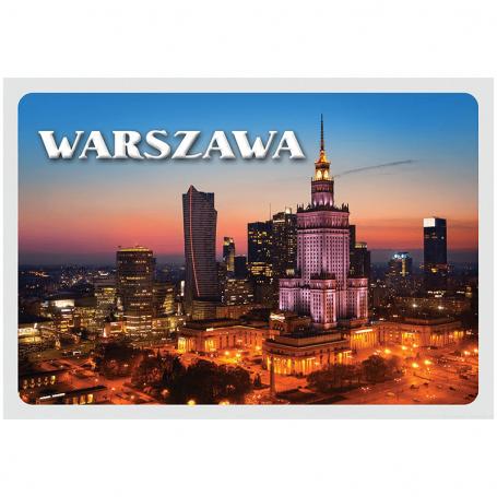 Pocztówka 3D Warszawa Centrum