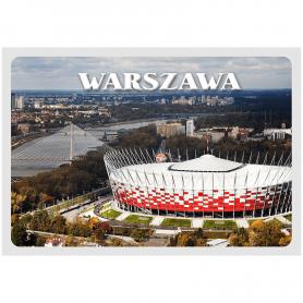 3D Postkarte Warschau Nationalstadion