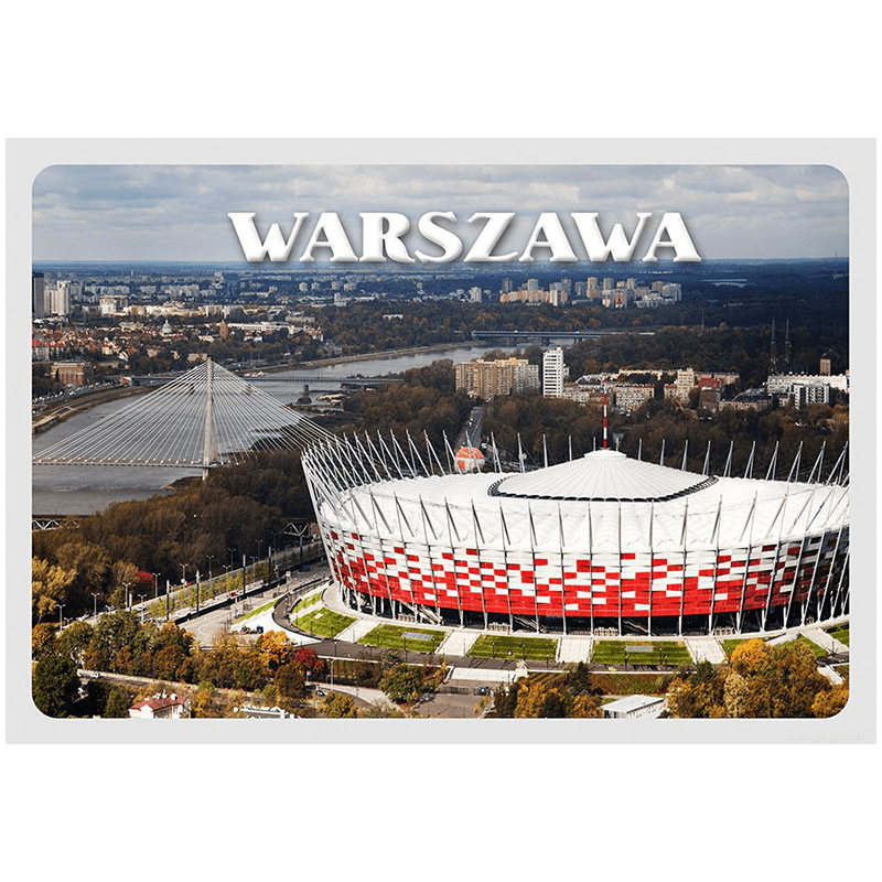 Carte postale 3D Stade national de Varsovie