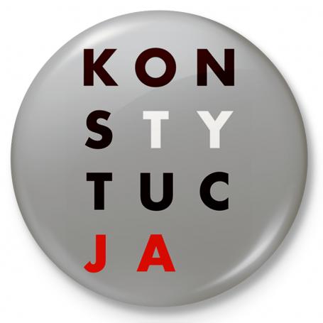 Insignia del botón, pin CONSTITUCIÓN