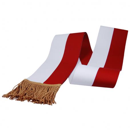 Faja blanca y roja para buque insignia