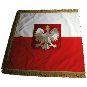 Temporäres, vorübergehendes und übendes Banner mit einem Adler