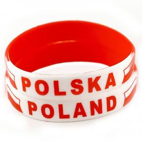 Bransoletka silikonowa Polska duża