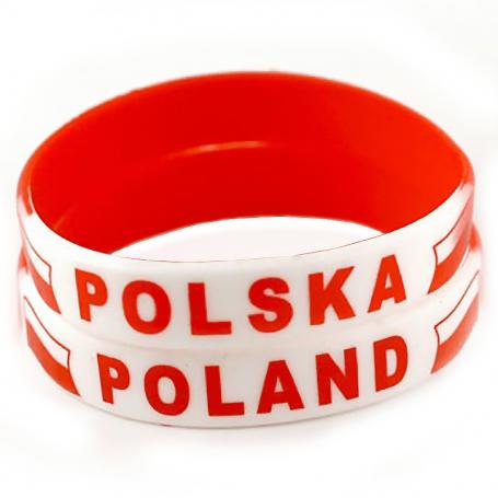 Bracelet en silicone Pologne, large