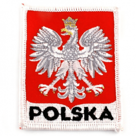 Broderad lapp polsk emblem