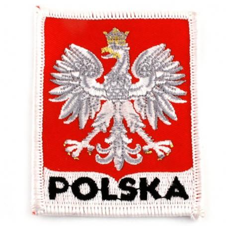 Parche bordado emblema polaco