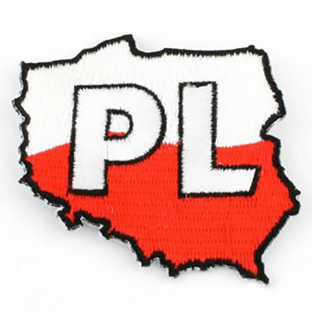 Poliruotas išsiuvinetas Lenkijos konturas