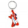 Porte-clés en caoutchouc avion Pologne