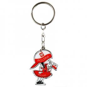 Schlüsselringmädchen in einer Kappe Polen
