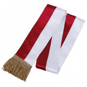 Faja blanca y roja para el buque insignia de la escuela primaria