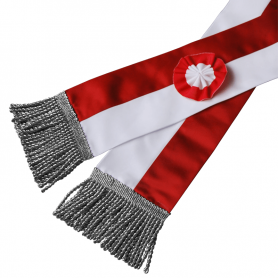 White and red sash for flagship
