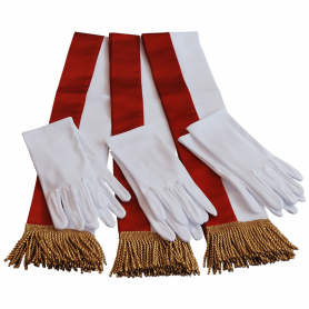 A package of sashes and gloves for the flagship