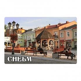 A fridge magnet with a 3D effect Chełm market