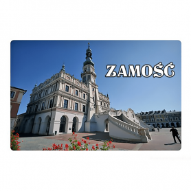 Fridge magnet with a 3D effect Zamość city hall