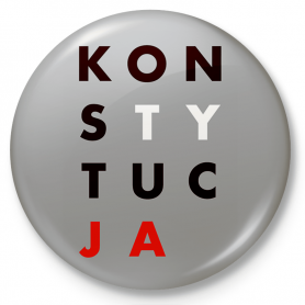Button fridge magnet CONSTITUTION
