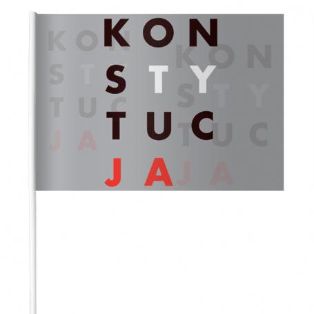 Chorągiewki papierowe KONSTYTUCJA plakat 15 x 21 cm (komplet)