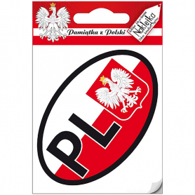 Single sticker Poland - oval PL