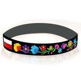 Bracelet en silicone folklorique polonais