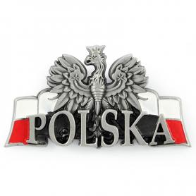 Metalowy magnes na lodówkę Polska Orzeł